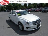 2016 Crystal White Cadillac ATS 8-Speed Automatic