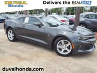 This 2016 Chevrolet Camaro 1LT in Gray Metallic
