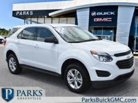 2016 White Chevrolet Equinox CARFAX One-Owner. Clean