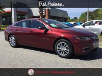 CARFAX One-Owner. 2016 Chevrolet Malibu LT 1LT Red