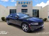 Pitch Black Clearcoat 2016 Dodge Charger SXT PLUS AWD
