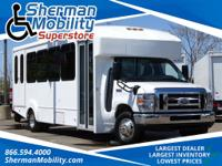 Oxford White 2016 Ford E-450SD 19 Passenger W/Mobility
