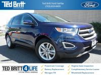 2016 Ford Edge SEL in Kona Blue Metallic w/ Ebony