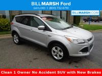 2016 Ford Escape SE 4WD. One-Owner. Clean CARFAX. 21/28