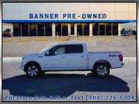 Pearl White 2016 Ford F-150 Platinum 4D SuperCrew 4WD