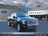 Shadow Black 2016 Ford F-150 Limited 4WD 6-Speed