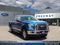Blue Flame Metallic 2016 Ford F-150 XLT 4WD 6-Speed