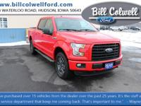Race Red 2016 Ford F-150 XLT 4WD 6-Speed Automatic