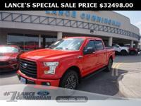 Clean CARFAX.2016 Ford F-150 XLT Race Red 4WD 2.7L V6