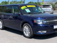 CARFAX One-Owner. Blue 2016 Ford Flex SEL AWD 6-Speed