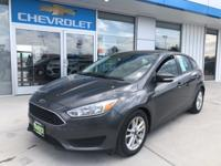 This car Features:2016 Ford Focus SE Gray 2.0L