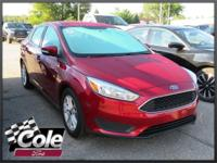 Red 2016 Ford Focus SE FWD 6-Speed Automatic with