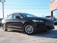 Black 2016 Ford Fusion S FWD 6-Speed Automatic 2.5L