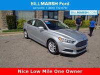 2016 Ford Fusion SE FWD. Low Mile One Owner! Our ASE