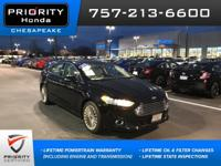 2016 Ford Titanium Fusion Shadow Black CARFAX