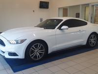 White 2016 Ford Mustang EcoBoost EcoBoost 2.3L I4 GTDi