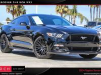 Clean CARFAX. Black 2016 Ford Mustang GT RWD 6-Speed