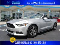 Silver 2016 Ford Mustang EcoBoost Premium Alloy wheels,
