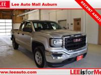 2016 GMC Sierra 1500 Base Silver Leather, USB/AUX Port,