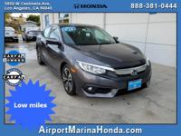 Check out this low mile 2016 Honda Civic EX-T Modern