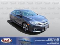 Feel at home driving our 2016 Honda Civic EX-T Sedan in