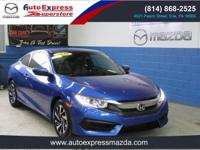 - - - 2016 Honda Civic Coupe 2dr CVT LX - - -  4 Wheel