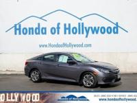 Check out this 2016 Honda Civic Sedan LX. Its Variable