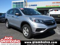 2016 HONDA CR-V LX ...... ONE LOCAL OWNER .......
