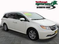 You can't go wrong with this White 2016 Honda Odyssey.