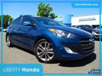 Blue 2016 Hyundai Elantra GT FWD 6-Speed Automatic with