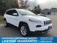 CARFAX One-Owner. White 2016 Jeep Cherokee Limited 4WD