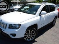 Bright White Clearcoat 2016 Jeep Compass High Altitude