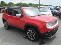 2016 JEEP RENEGADE LIMITED 4X4. PW,PL,POWER SEAT,