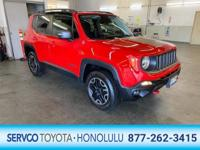 This 2016 Jeep Renegade Trailhawk is offered to you for