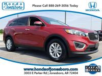 CARFAX One-Owner. Clean CARFAX. Red 2016 Kia Sorento LX