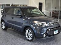 Step out in style in our Fathom Blue 2016 Kia Soul +