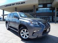 CARFAX One-Owner. Grey 2016 Lexus GX 460 4WD 6-Speed