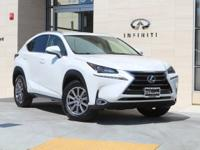 CARFAX One-Owner. Clean CARFAX. White 2016 Lexus NX