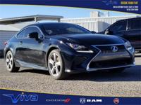 Obsidian 2016 Lexus RC 200t RWD 8-Speed Automatic 2.0L
