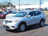 Brilliant Silver 2016 Nissan Rogue S FWD CVT with