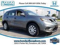Clean CARFAX. Gray 2016 Nissan Rogue S FWD CVT with