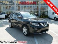 Magnetic Black 2016 Nissan Rogue S FWD CVT with Xtronic
