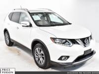 Clean CARFAX. 2016 Nissan Rogue SL WHITE AWD CVT with