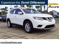 This 2016 Nissan Rogue SV in Glacier White features: