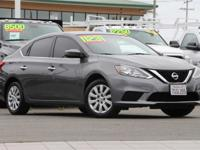 Clean CARFAX. Gray 2016 Nissan Sentra S FWD 6-Speed