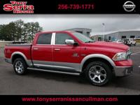 Bright Red 2016 Ram 1500 Laramie 4WD 8-Speed Automatic