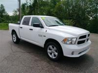 Recent Arrival! 2016 Ram 1500 Express White ABS brakes,