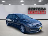 2016 Subaru Impreza Dark Gray Metallic 2.0i Rear Backup