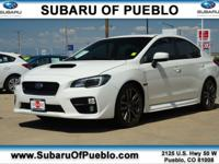 Crystal White Pearl 2016 Subaru WRX Premium AWD 6-Speed
