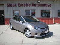 TAKE A LOOK AT THIS BEAUTY, A 2016 TOYOTA COROLLA, LE